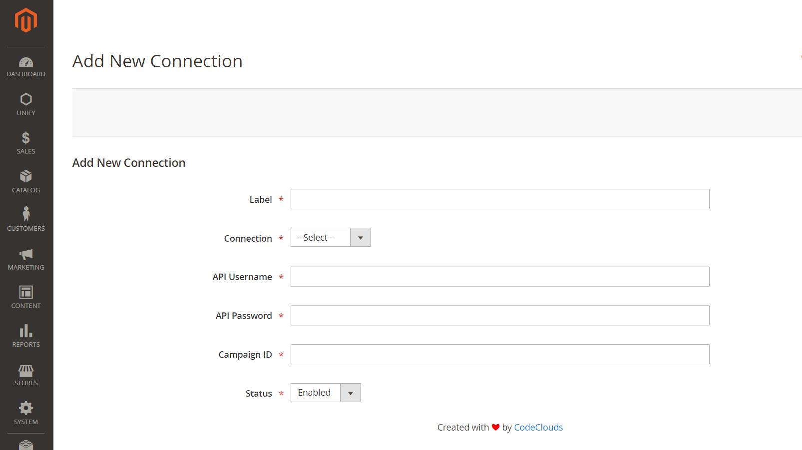 Unify magento module configuration