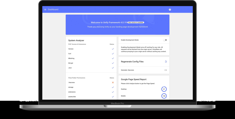 unify framework desktop UI