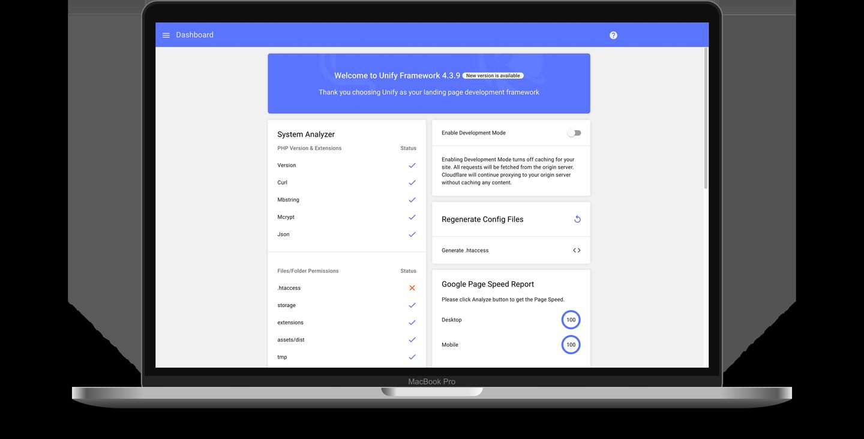 Unify Framework UI