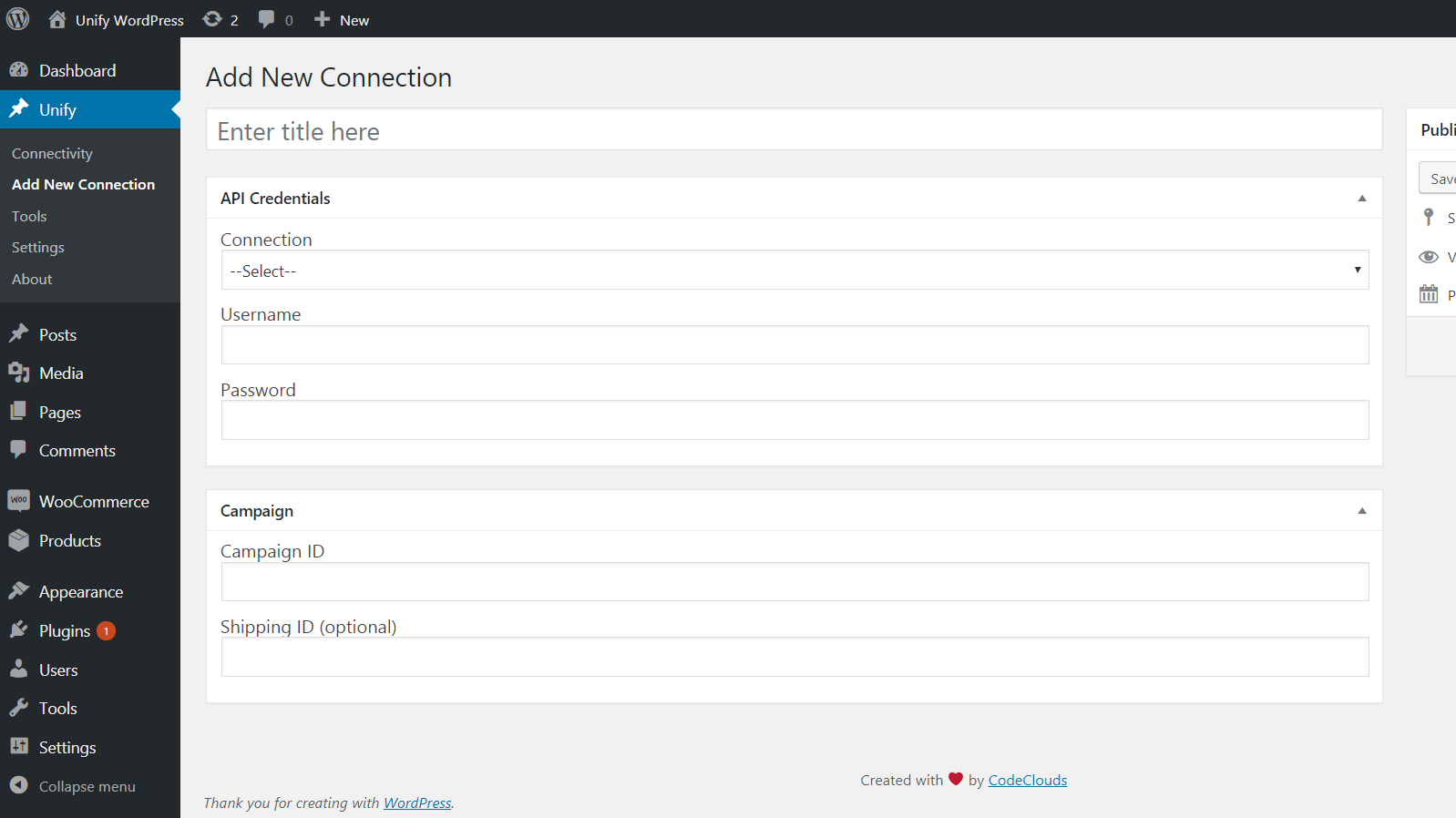 Unify plugin configuration step 1