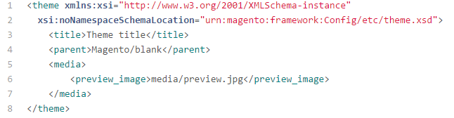 Magento 2 theme.xml file