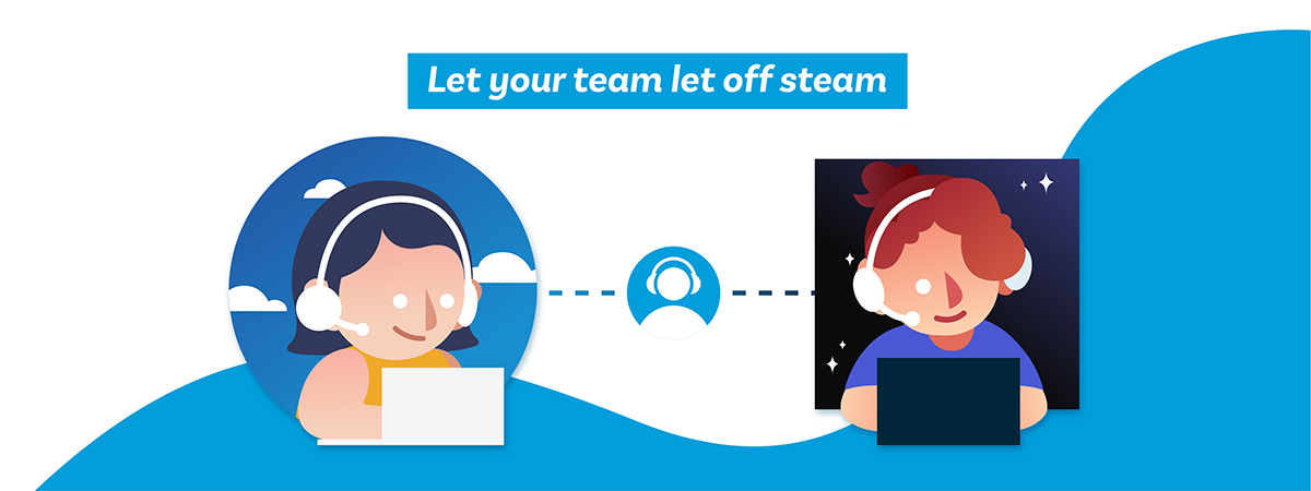 Let your team let off steam