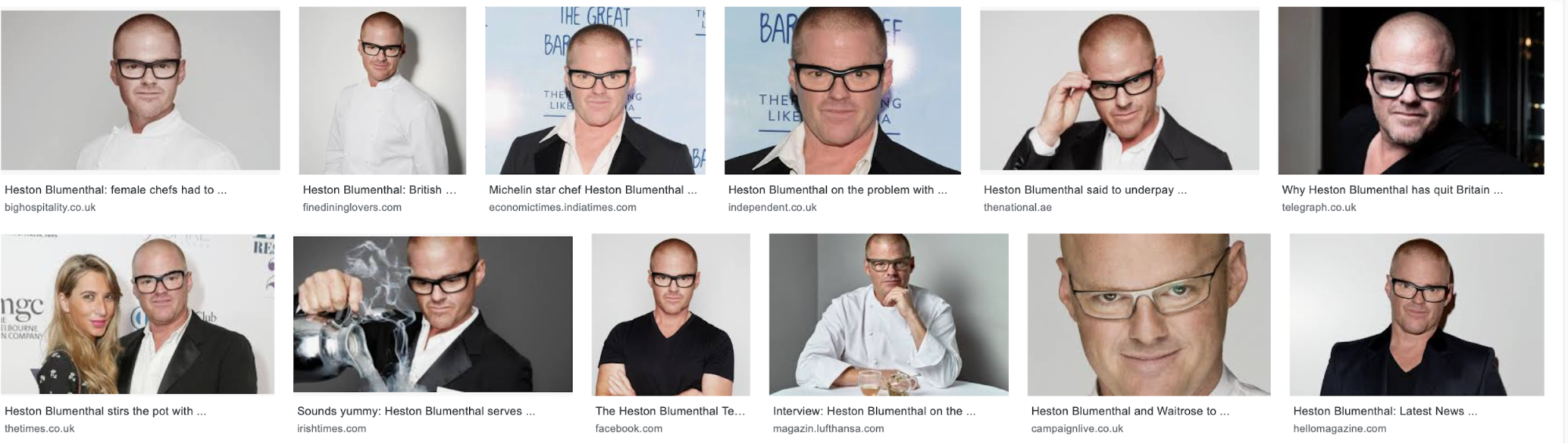 Google Image Search results for Heston Blumenthal