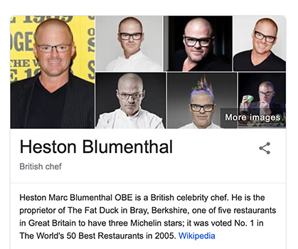 Knowledge Card for Heston Blumenthal